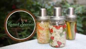 Image of Kraut Source mason jar lid